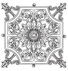 Old botanical lattice vector