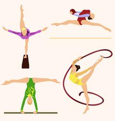 Performance gymnasts icon sport vector