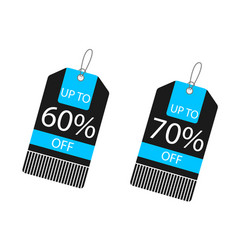 Price tag up to 60 70 off image vector