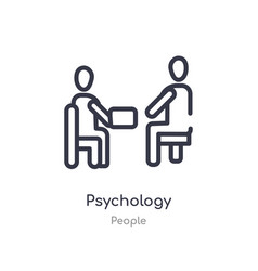 Psychology outline icon isolated line from people vector