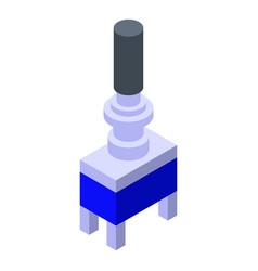 Radio switch piece icon isometric style vector