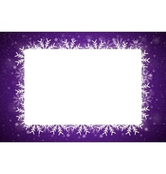 Rectangle frame snowflake new year and christmas vector