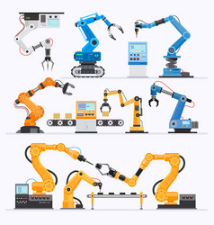 robotic arm industrial vector image
