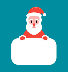 santa claus holding white board vector image