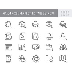search simple line icons vector image