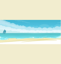 seascape background vector image