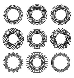set of round twisted frame 1 vector image vector image