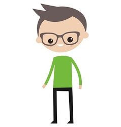 Smiling boy with glasses vector