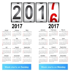 Stylish German calendar for 2017 vector image