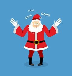 Surprised Santa Claus speak OOPS Perplexed vector