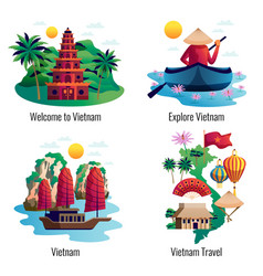 vietnam 2x2 design concept vector image