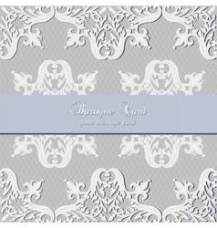 Vintage Baroque Luxury lace card vector