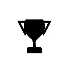 winner cup icon black on white background vector image