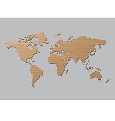 World map Brown Cardboard vector