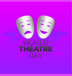 world theatre day logo icon design vector image