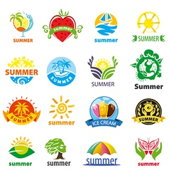 biggest collection of logos summer vector image vector image