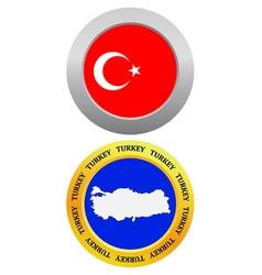 button as a symbol map TURKEY vector image