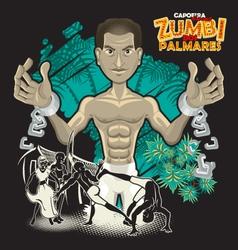 Capoeira Heroes Zumbi Dos Palmares vector image vector image