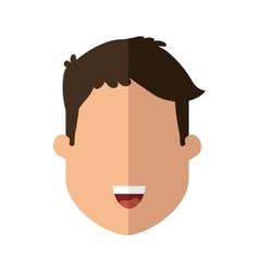 Cartoon man icon Person design graphic vector image