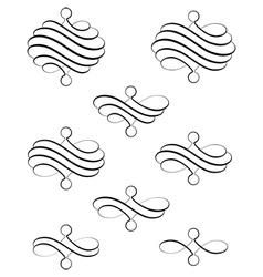 Helical swirl ter vector image vector image