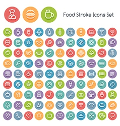 line food icons vector image vector image