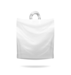 plastic shopping bag white empty realistic vector image vector image