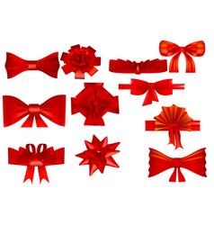 set of various bows vector image vector image