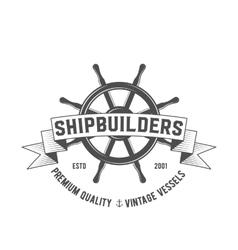 Yacht club badge logo label vector