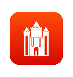 ancient fort icon digital red vector image vector image