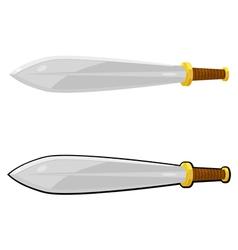 Cartoon sword eps10 vector image