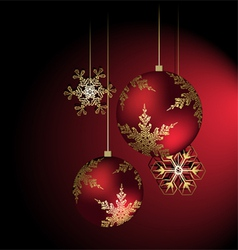 Christmas background red color vector