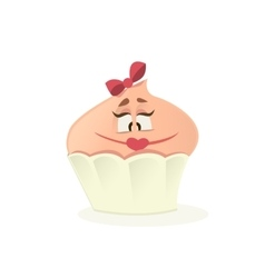 Lady cupcake on a white background vector image