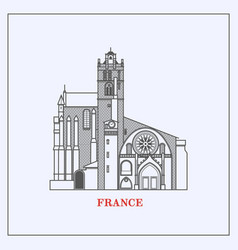 travel france landmark iconthe most famous vector image vector image