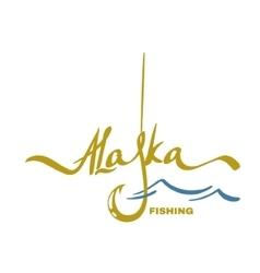 alaska fishing design vector image