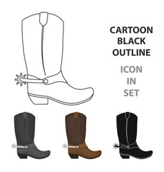 cowboy boots icon in cartoon style isolated on vector image vector image