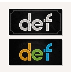 letter D E F logo alphabet chalk icon set vector image vector image