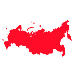 map of russia with a red filling image vector image