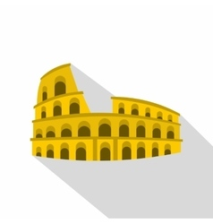 Roman Colosseum icon flat style vector image