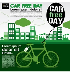 World car free day ecology conceptual EPS10 vector image vector image