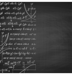 Abstract math school background with copy space vector image vector image