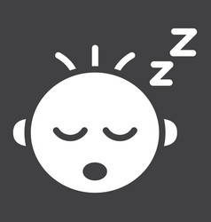 baby boy sleep solid icon child and infant vector image