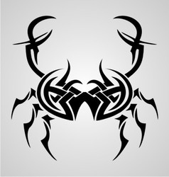 Crab Tribal Tattoo vector image vector image