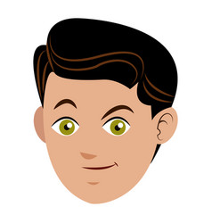 face boy young happy expression vector image vector image