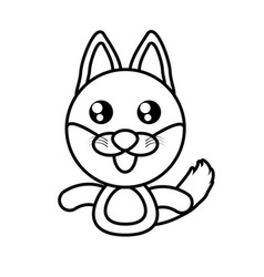 fox animal toy outline vector image