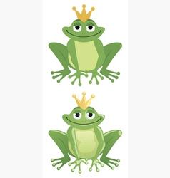 frog prince vector image vector image
