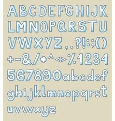 Handdrawn typeface vector