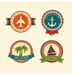 Vacations travel badges collection vector image vector image
