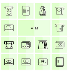 14 atm icons vector