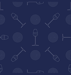 abstract seamless pattern with glass of champagne vector image