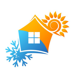 Air conditioner and ventilation house vector